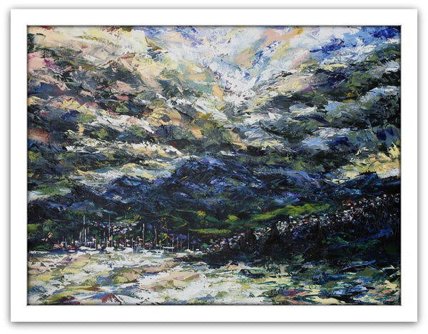 "Esther Shohet Painting ~ ""Stormy Sky, Mount Wellington' - Gallery Salamanca"