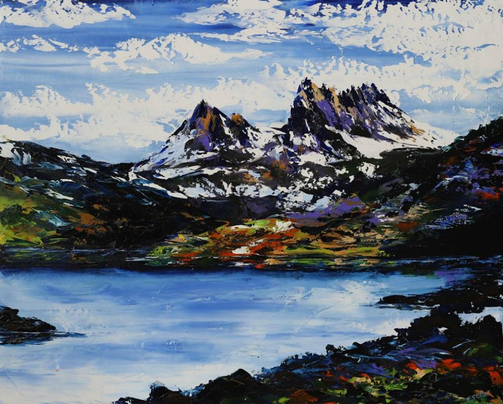 Esther Shohet Painting ~ 'Summer at Cradle Mountain' - Gallery Salamanca Hobart Tasmania