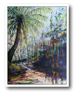 Esther Shohet Painting ~ 'The Forest Fern' - Gallery Salamanca Hobart Tasmania