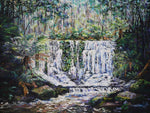 Esther Shohet Painting ~ 'The Forest and the Falls' - Gallery Salamanca Hobart Tasmania