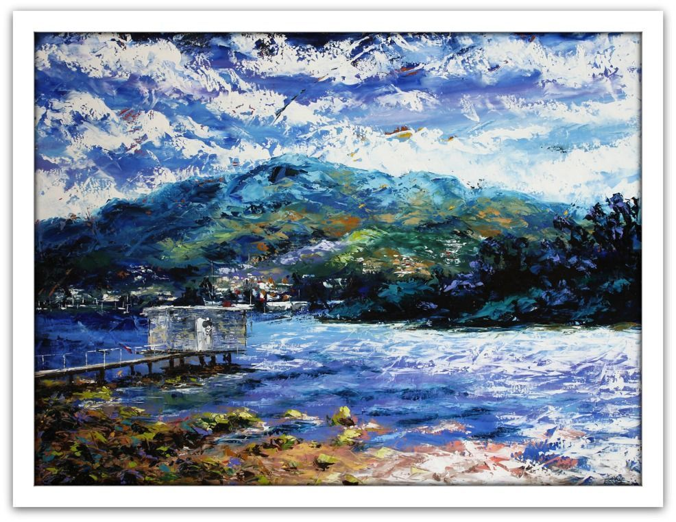 Esther Shohet Painting ~ 'The Jetty' - Gallery Salamanca Tasmania