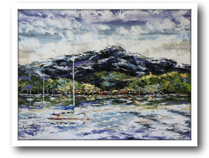 Esther Shohet Painting ~ 'The Morning Sky' (Mt. Wellington) - Gallery Salamanca Hobart Tasmania