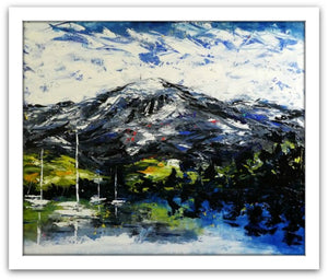 Esther Shohet Painting ~ 'The Mountain' - Gallery Salamanca Tasmania