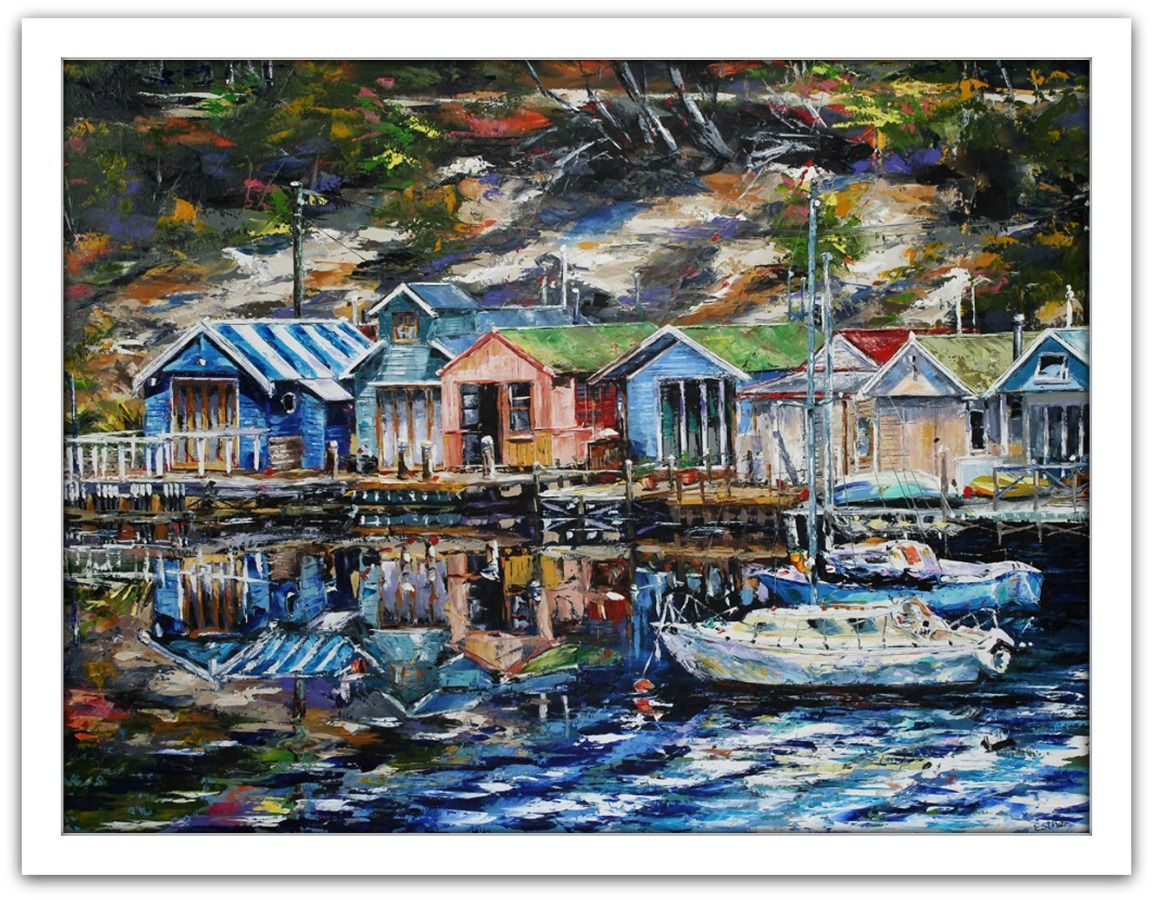 Esther Shohet Painting ~ 'The Retreat - Cornelian Bay' - Gallery Salamanca Hobart Tasmania