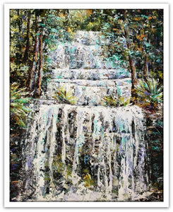 Esther Shohet Painting ~ 'The Shelter of Russell Falls' - Gallery Salamanca Tasmania