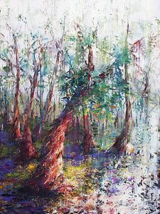 Esther Shohet Painting ~ 'The Snow Gum' - Gallery Salamanca
