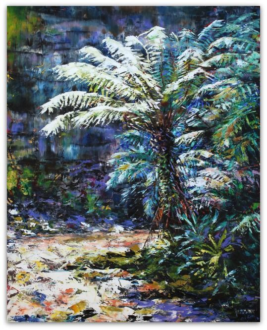 Esther Shohet Painting ~ 'The Tree Fern' - Gallery Salamanca