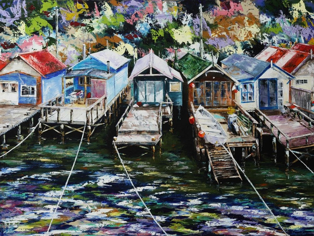 Esther Shohet Painting ~ 'The Weekend' - Cornelian Bay - Gallery Salamanca Hobart Tasmania