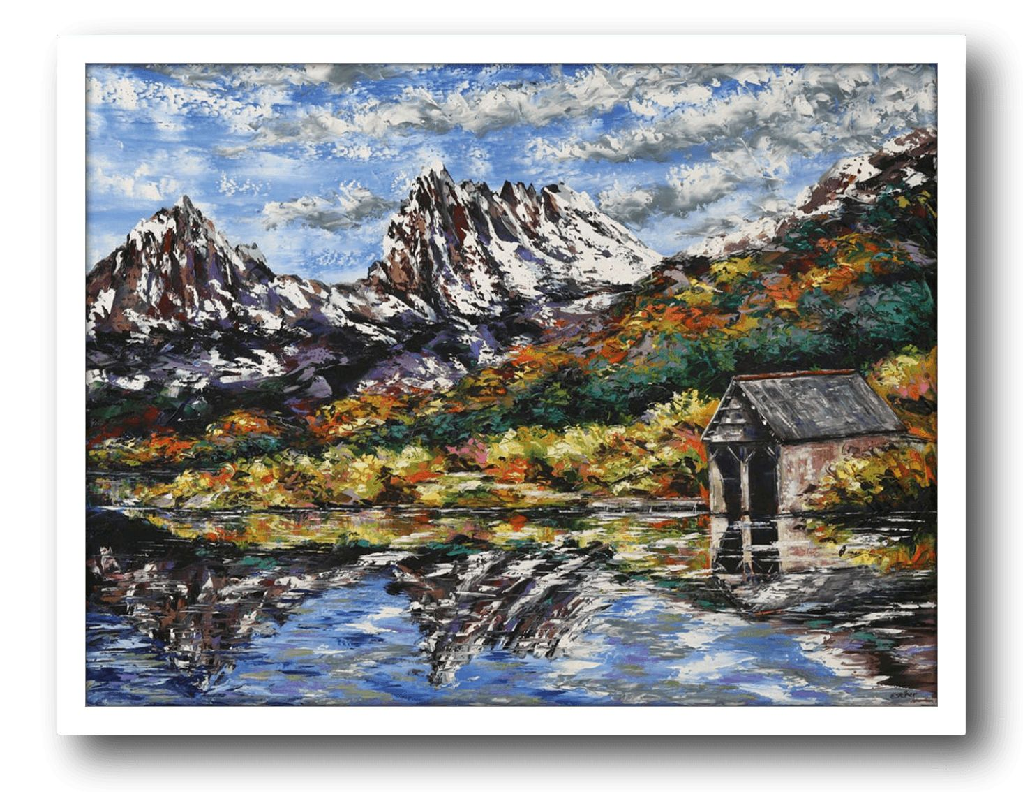 Esther Shohet Painting ~ 'Where the Air is Clean, Cradle Mountain' - Gallery Salamanca Hobart Tasmania