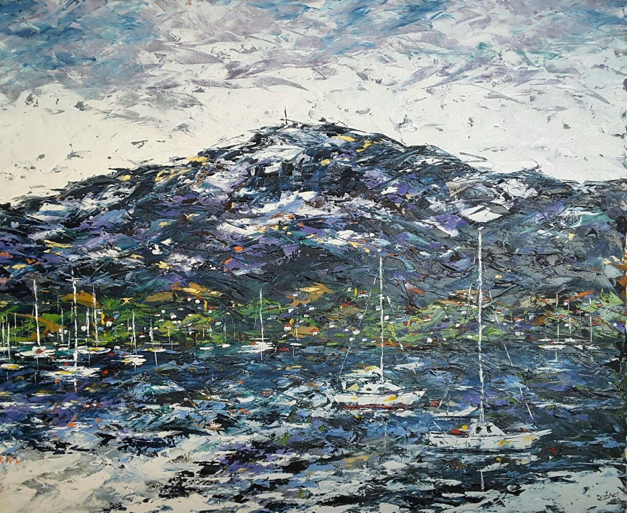 Esther Shohet Painting ~ 'The Mountain and the Sea' - Gallery Salamanca