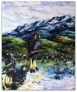 Esther Shohet Painting ~ 'Enjoying the View I' - Gallery Salamanca Tasmania