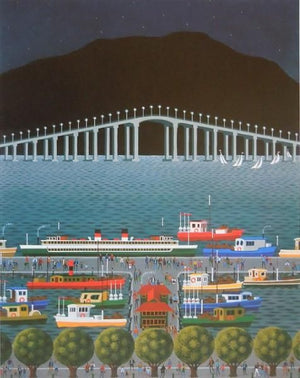 George Callaghan Print ~ 'Hobart Waterfront' - Gallery Salamanca