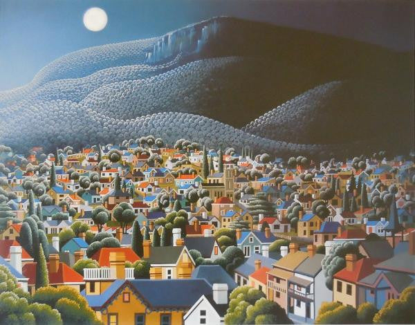 George Callaghan Print ~ 'Mt. Wellington from the Glebe' - Gallery Salamanca