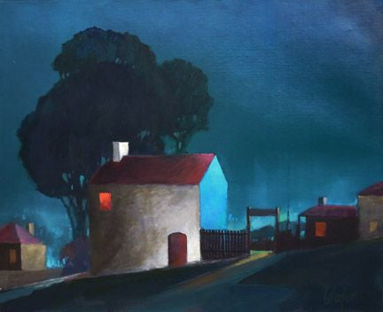 George Callaghan Painting ~ 'Up Late' - Gallery Salamanca