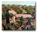 George Callaghan Painting ~ 'Apple Blossom at Cygnet' - Gallery Salamanca Hobart Tasmania