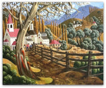 George Callaghan Painting ~ 'Autumn in the Derwent' - Gallery Salamanca Tasmania