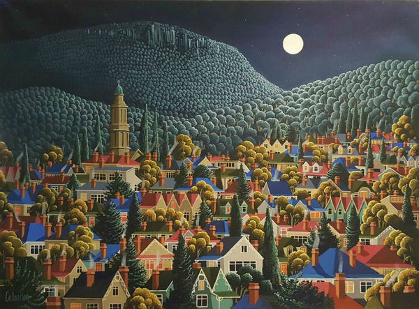 George Callaghan Painting ~ 'Battery Point to Mt. Wellington' - Gallery Salamanca