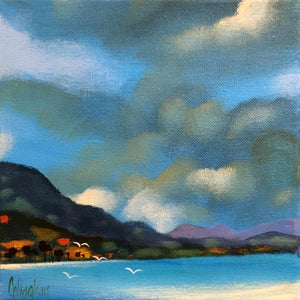 George Callaghan Painting ~ 'Cloud Study 1' - Gallery Salamanca Hobart Tasmania