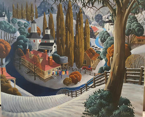 George Callaghan Painting ~ 'Huon Snow' - Gallery Salamanca