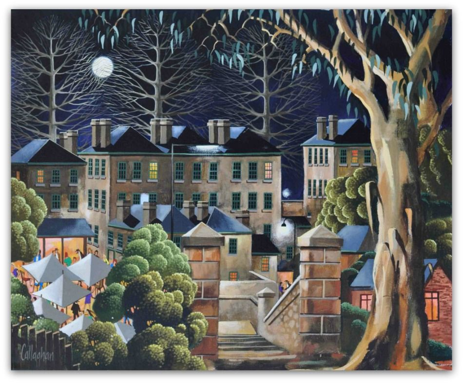 George Callaghan Painting ~ 'Kelly's Steps' - Gallery Salamanca Tasmania
