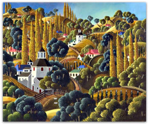 George Callaghan Painting ~ 'Road to Bushy Park' - Gallery Salamanca Tasmania