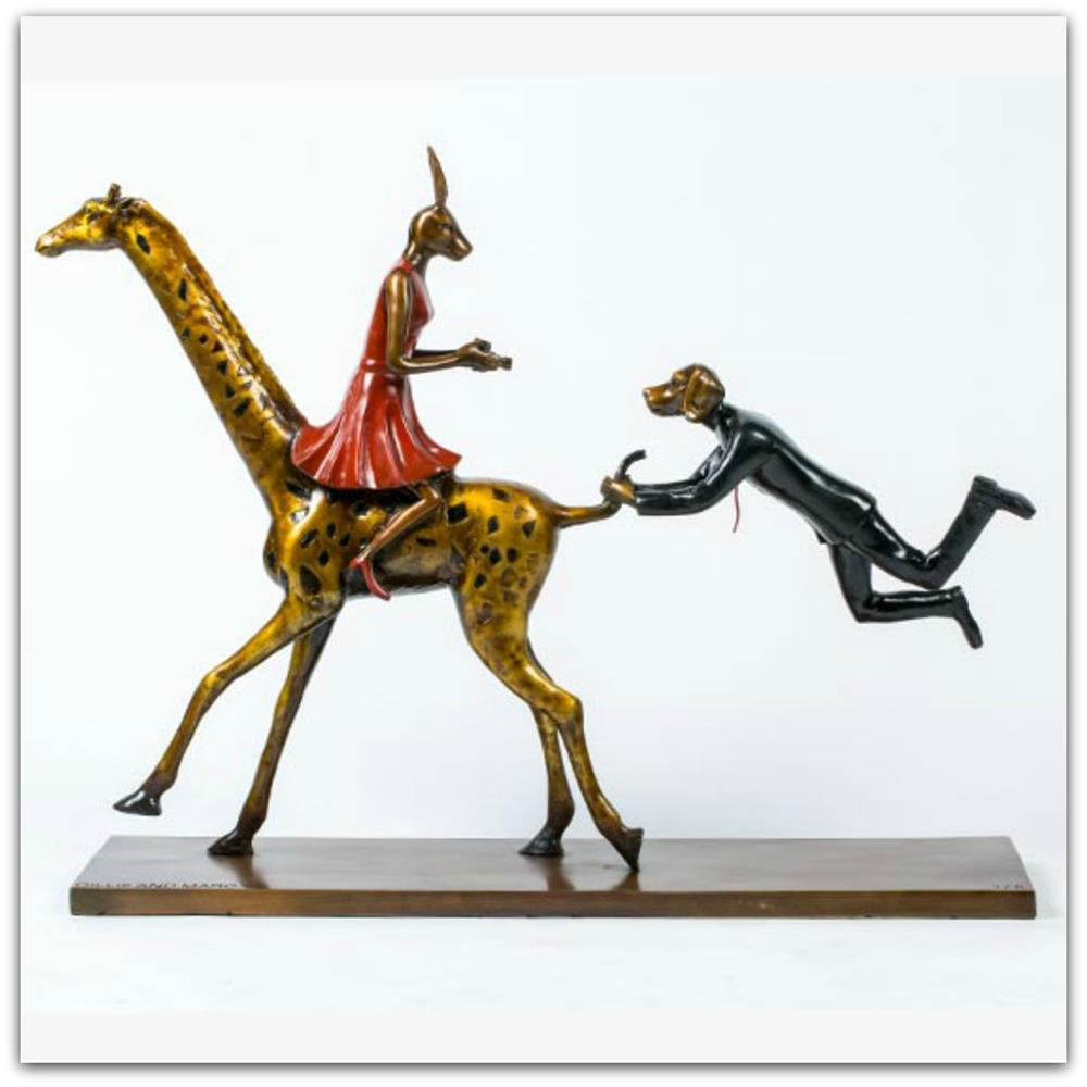 Gillie and Marc Bronze Sculpture ~ 'They Loved Wildlife, and It Loved Them Back' - Gallery Salamanca Hobart Tasmania