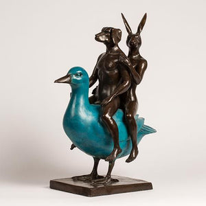 Gillie and Marc ~ Bronze 'They Were Birds of a Feather so They Stuck Together' - Gallery Salamanca