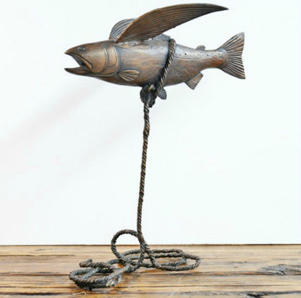 Gillie and Marc Bronze Sculpture ~ 'Flying Fish' - Gallery Salamanca Tasmania