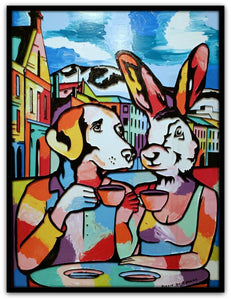 Gillie and Marc Painting ~ 'They Loved Hobart and Hobart Loved Them' - Gallery Salamanca Hobart Tasmania