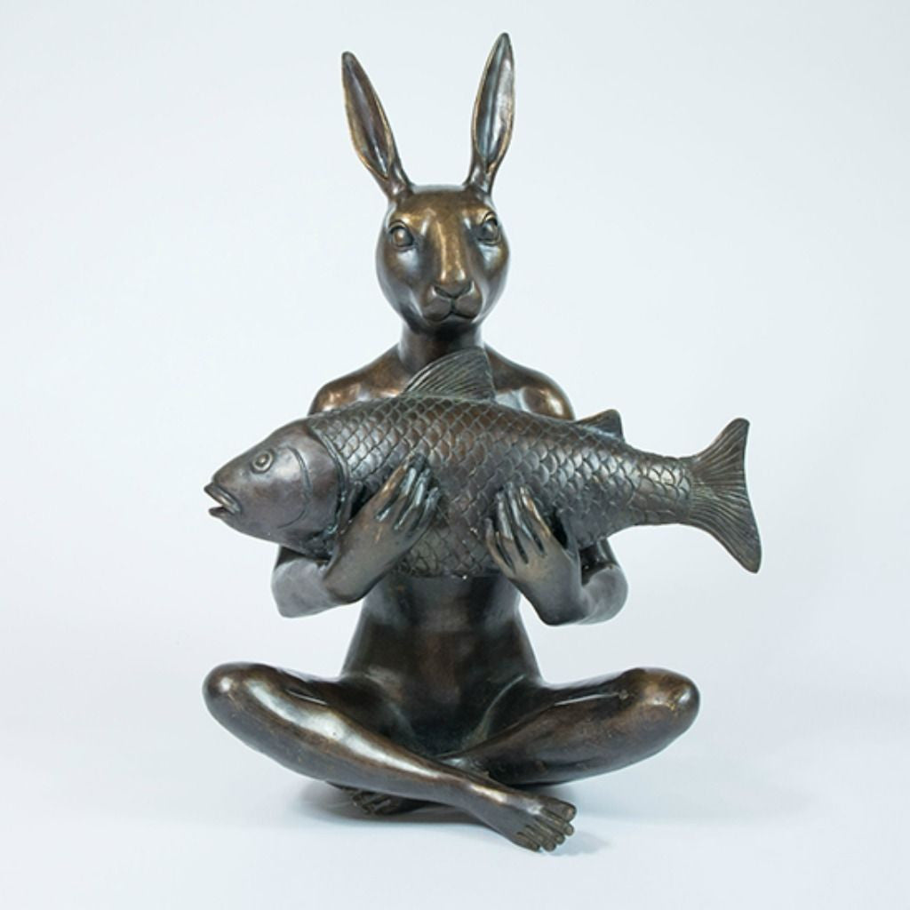 Gillie and Marc Bronze Sculpture ~ 'She Had the Catch of the Day'