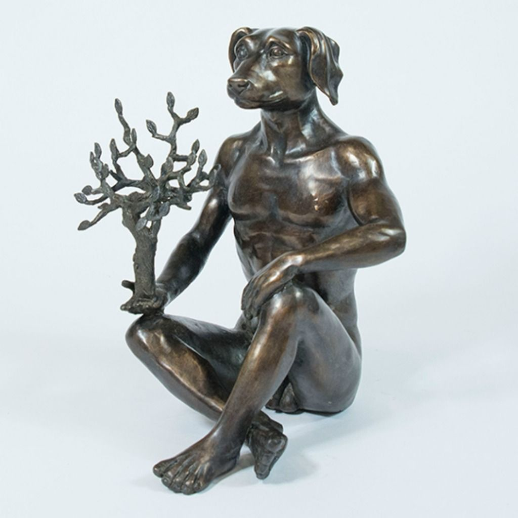 Gillie and Marc Bronze Sculpture ~ 'He was a Nature Lover' - Gallery Salamanca Hobart Tasmania