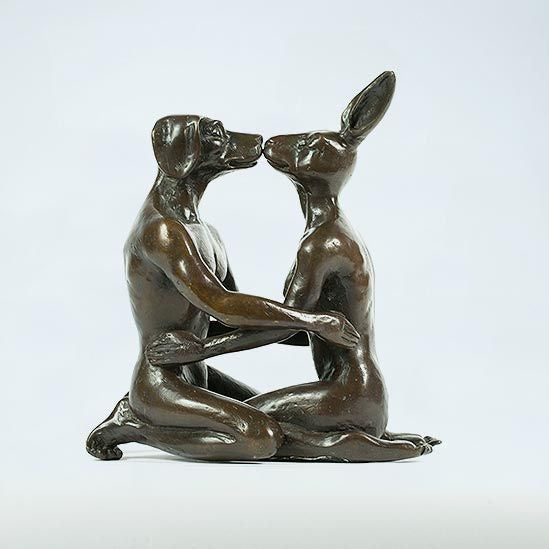 Gillie and Marc Bronze Sculpture ~ 'They Fell in Love Again' - Gallery Salamanca Tasmania