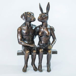 Gillie and Marc Bronze Sculpture ~ 'They Were Together Forever' - Gallery Salamanca Tasmania