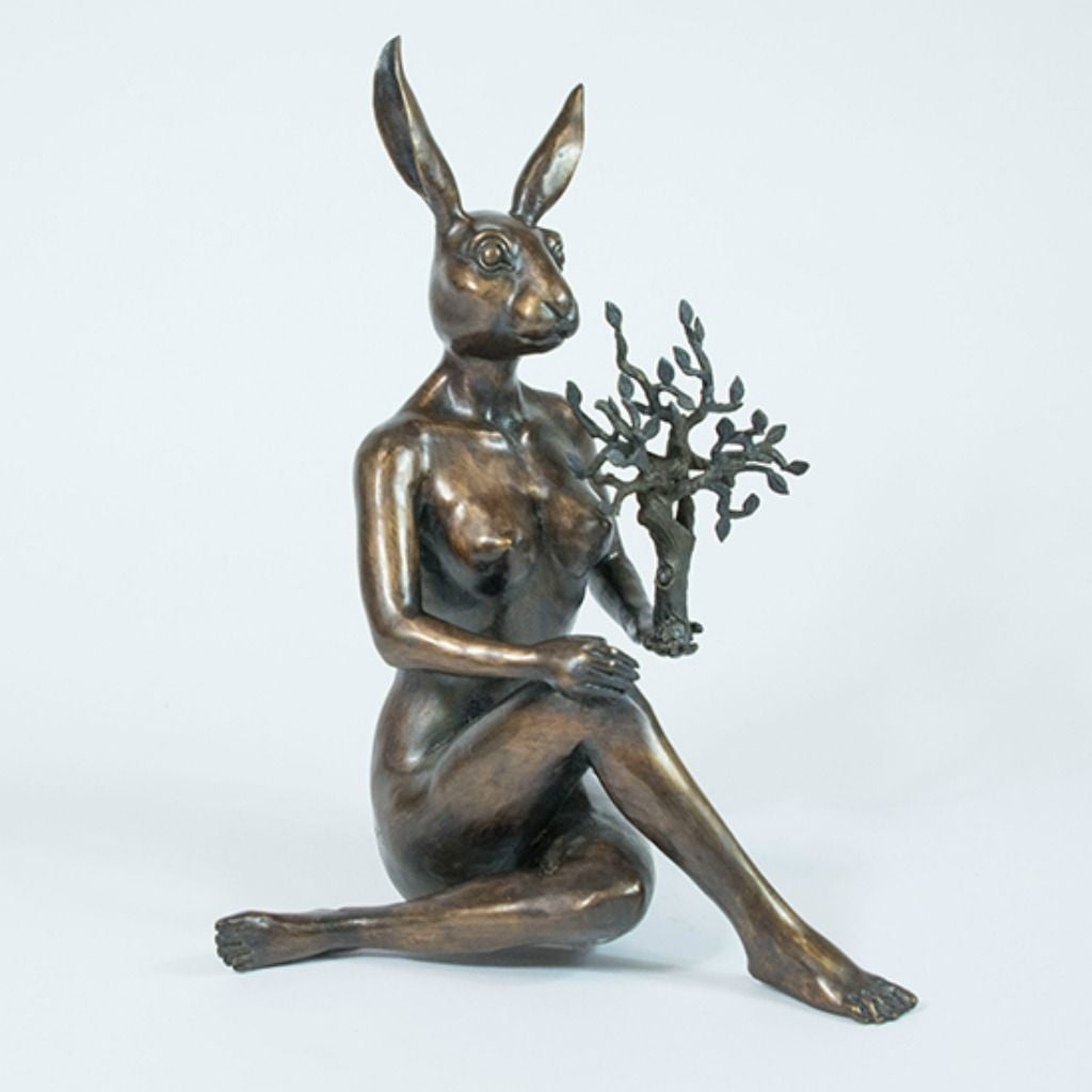 Gillie and Marc Bronze Sculpture ~ 'She was a Nature Lover'