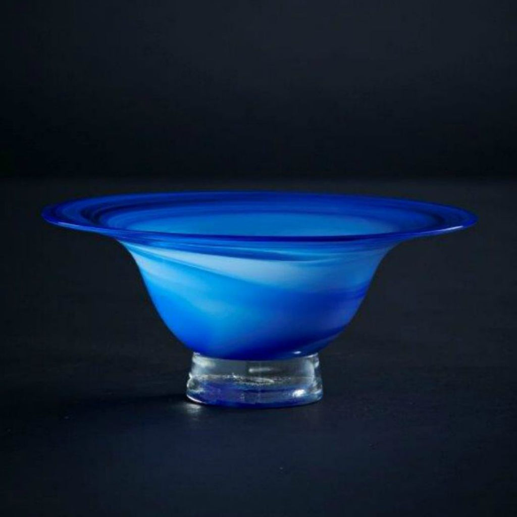 James McMurtrie Glass ~ Bowl (Blue) - Gallery Salamanca Hobart Tasmania
