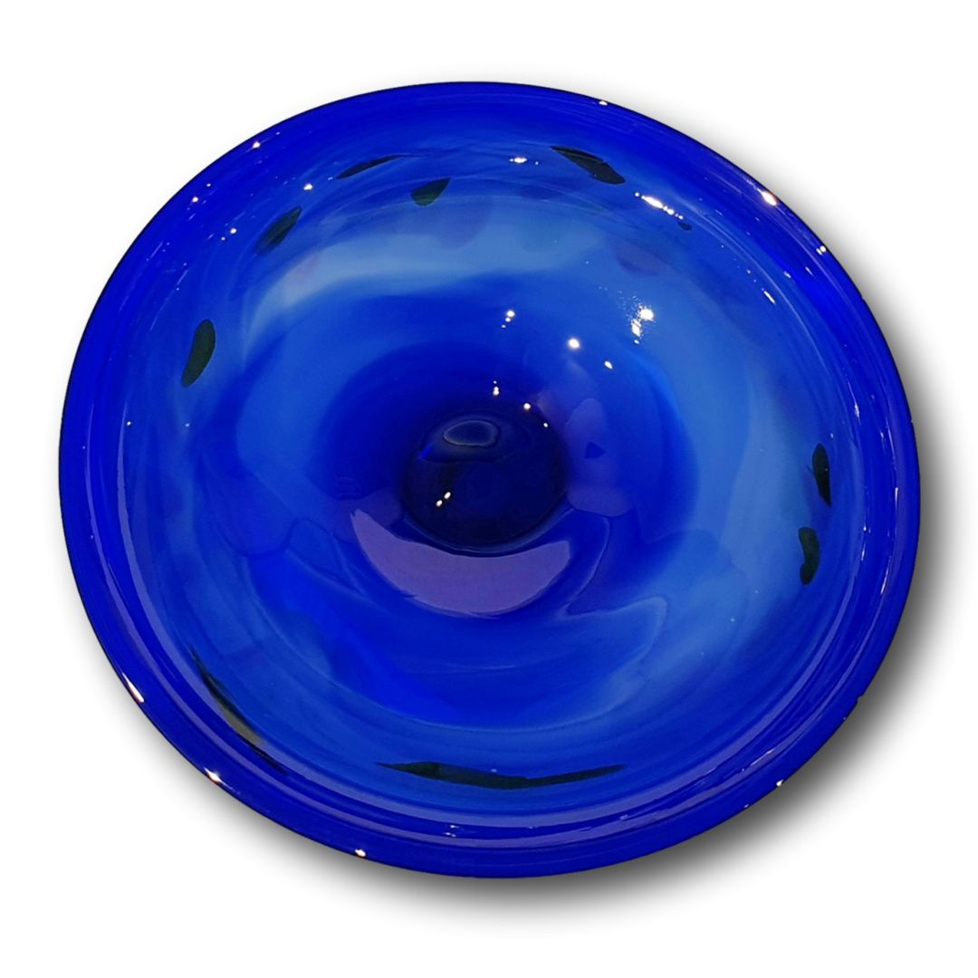 James McMurtrie Glass ~ Extra Large Bowl (Blue) - Gallery Salamanca Hobart Tasmania