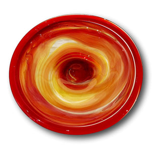 James McMurtrie Glass ~ Extra Large Bowl (Fire) - Gallery Salamanca Hobart Tasmania
