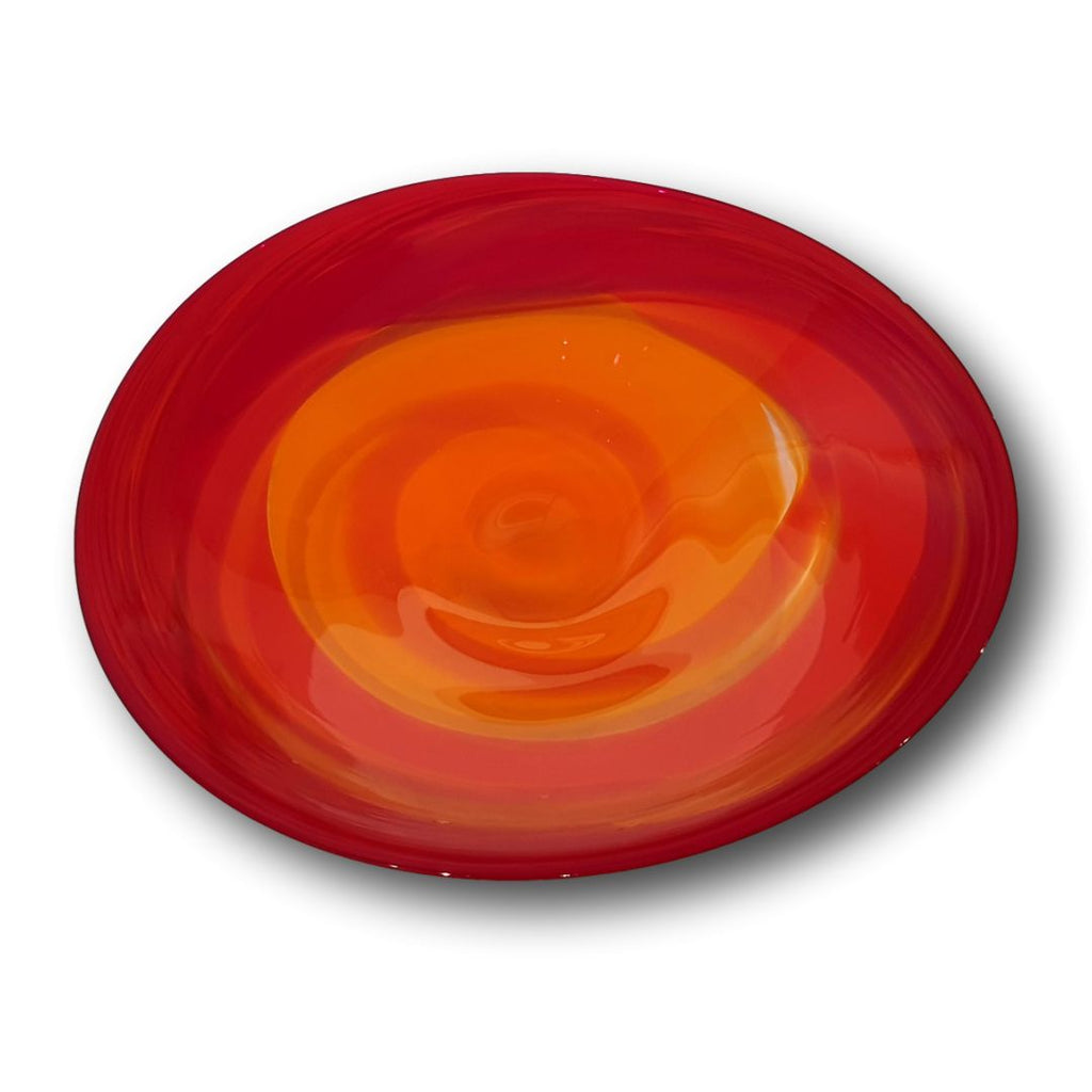 James McMurtrie Glass ~ Extra Large Bowl (Lava) - Gallery Salamanca Hobart Tasmania