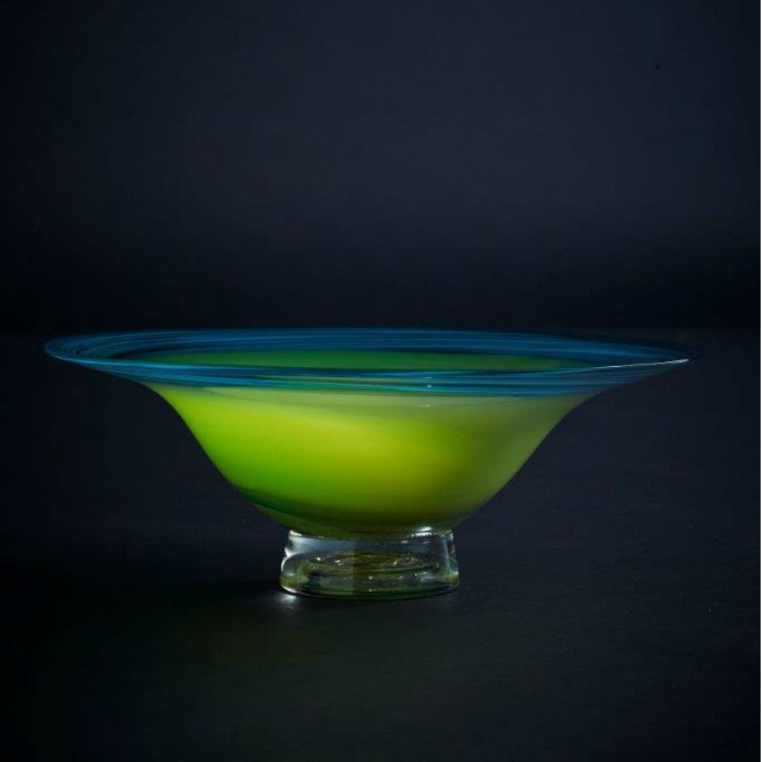 James McMurtrie Glass ~ Bowl (Green) - Gallery Salamanca Hobart Tasmania