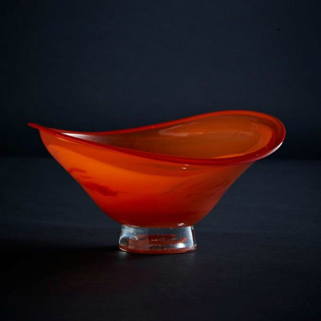 James McMurtrie Glass ~ Large Wonky Bowl (Red) - Gallery Salamanca Hobart Tasmania