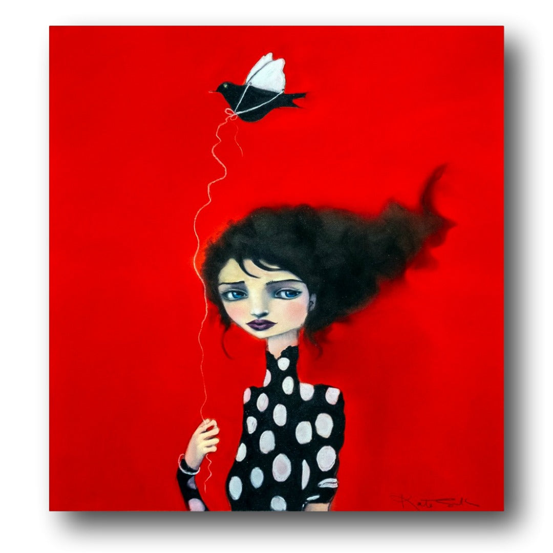 Kate Smith Painting ~ 'Bird of Paper Wings' - Gallery Salamanca Hobart Tasmania