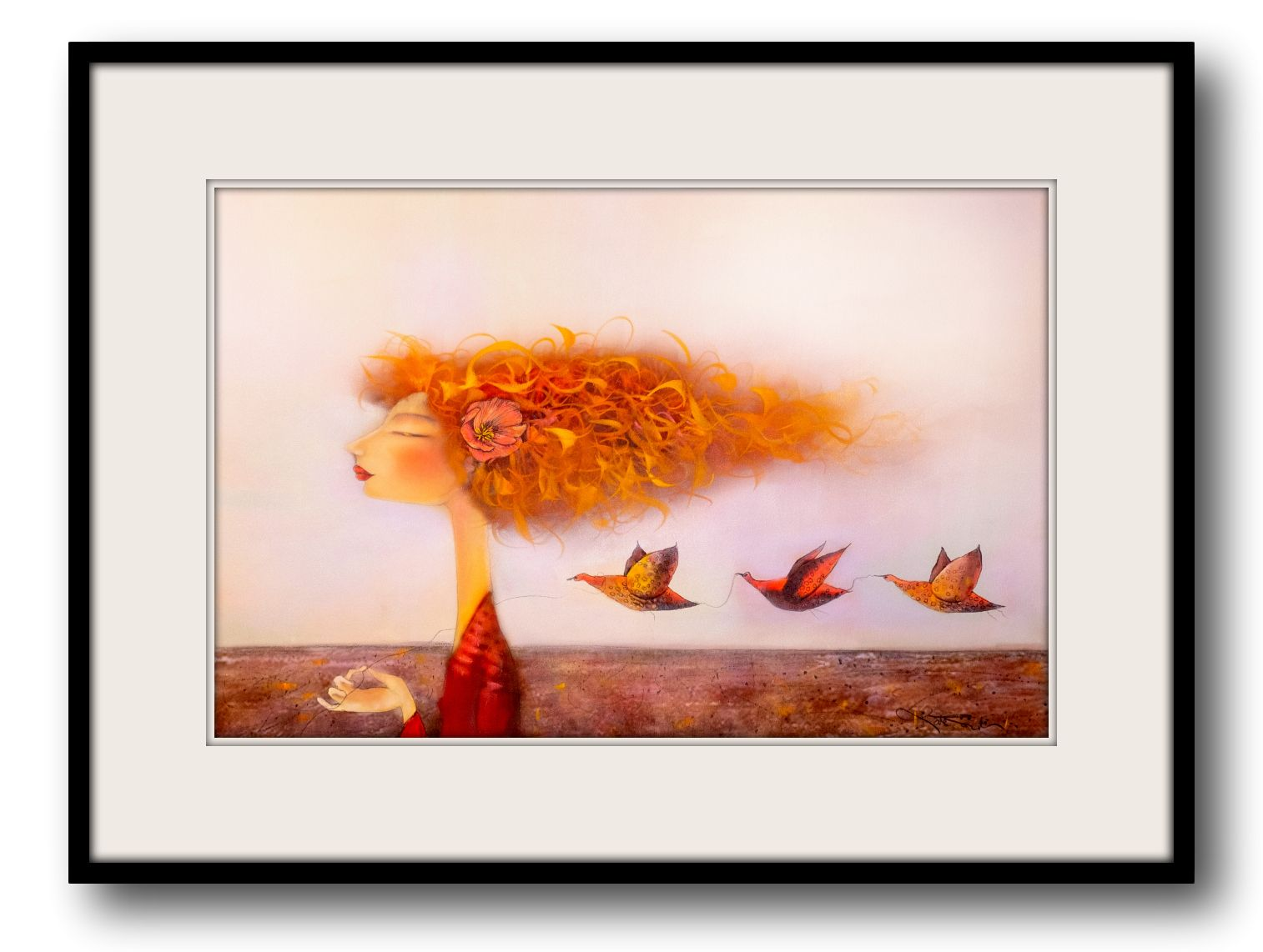 Kate Smith Painting ~ 'Flight of Fancy' - Gallery Salamanca Hobart Tasmania