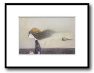 Kate Smith Painting ~ 'Into The Wind' - Gallery Salamanca Hobart Tasmania