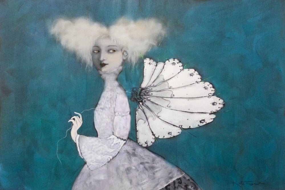 Kate Smith Painting ~ 'On Wings I Can Fly' - Gallery Salamanca Hobart Tasmania