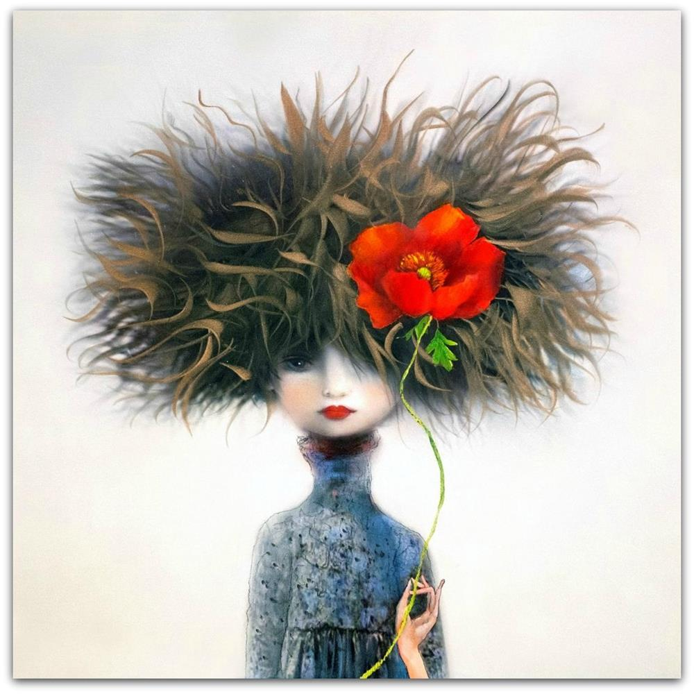 Kate Smith Painting ~ 'Tall Poppy' - Gallery Salamanca Hobart Tasmania