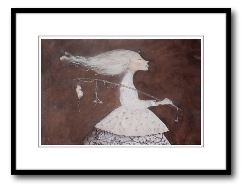 Kate Smith Painting ~ 'What a Catch' - Gallery Salamanca Hobart Tasmania