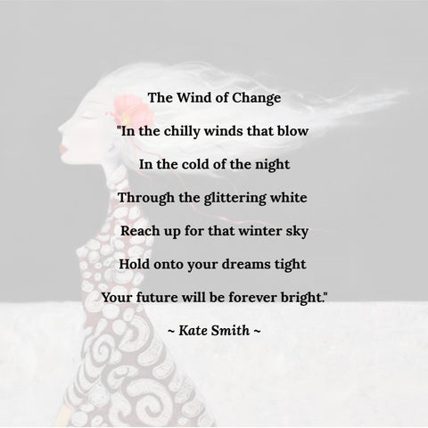 Artist Statement for Kate Smith Painting ~ 'Wind of Change' - Gallery Salamanca Hobart Tasmania