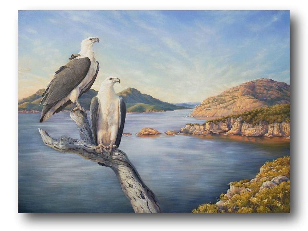 Katherine Castle Painting ~ 'Wineglass Dawn - White-Bellied Sea Eagle' - Gallery Salamanca Hobart Tasmania