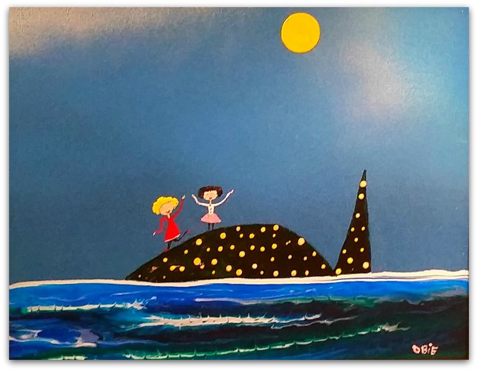 Mark O'Brien (Obie) Painting ~ 'A Whale of a Time' - Gallery Salamanca