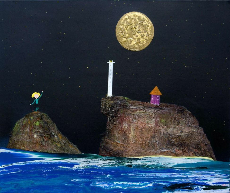 Mark O'Brien (Obie) Painting ~ 'The Lighthouse Keeper' - Gallery Salamanca Tasmania